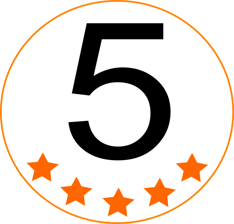 Five stars with circle image