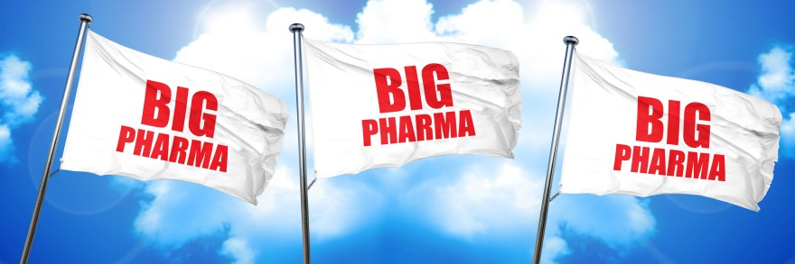 big pharma, 3D rendering, triple flags