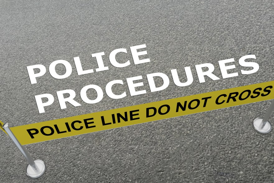 POLICE PROCEDURES concept