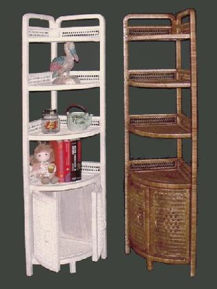 wicker bookshelfbookcase furniturerattan corner wall