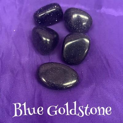 tumbled Blue Goldstone crystal