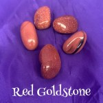 tumbled Red Goldstone crystal