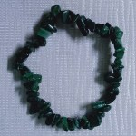 Crystal Chip Bracelet Malachite