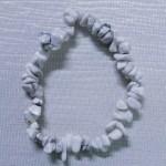 Crystal Chip Bracelet White Howlite