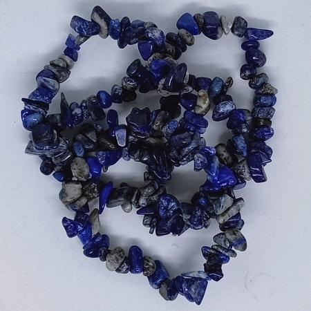 Crystal Chip Bracelets Lapis Lazuli