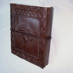 Leather Bound Journal Ohm Brown