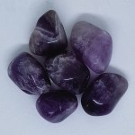 Chevron Amethyst Tumbled Crystal