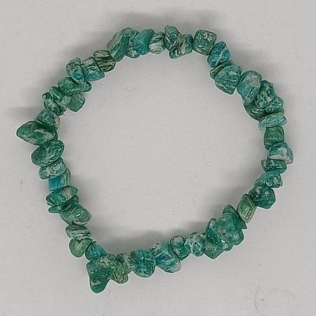 crystal chip bracelet Amazonite