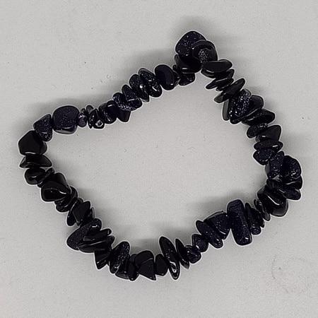 crystal chip bracelet Blue Goldstone