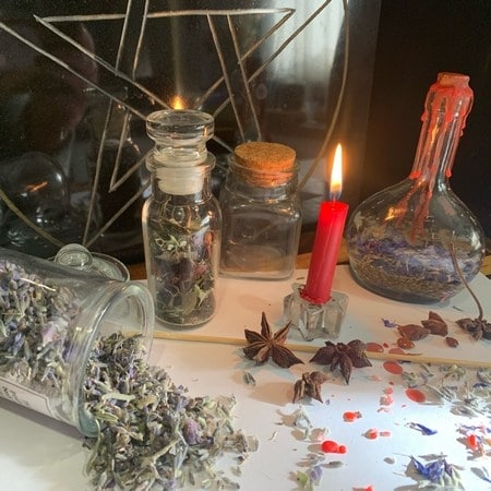 create witches bottles