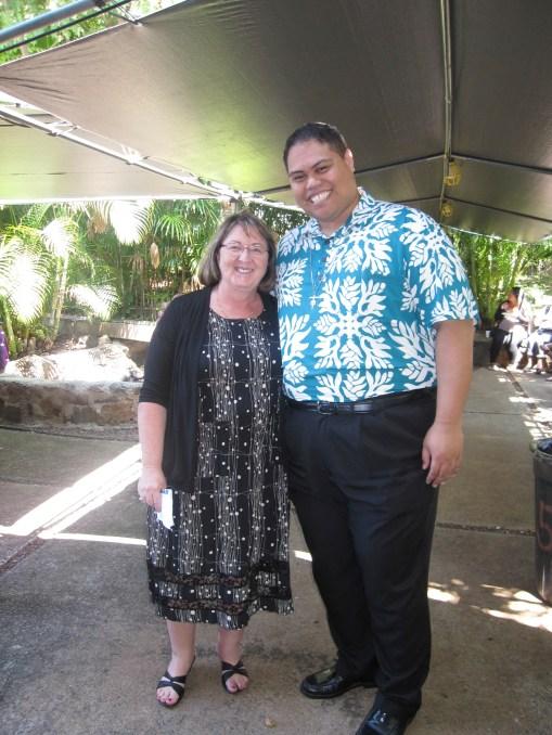Bro. Brandon with the Dean of the Nursing School, Stephanie Genz