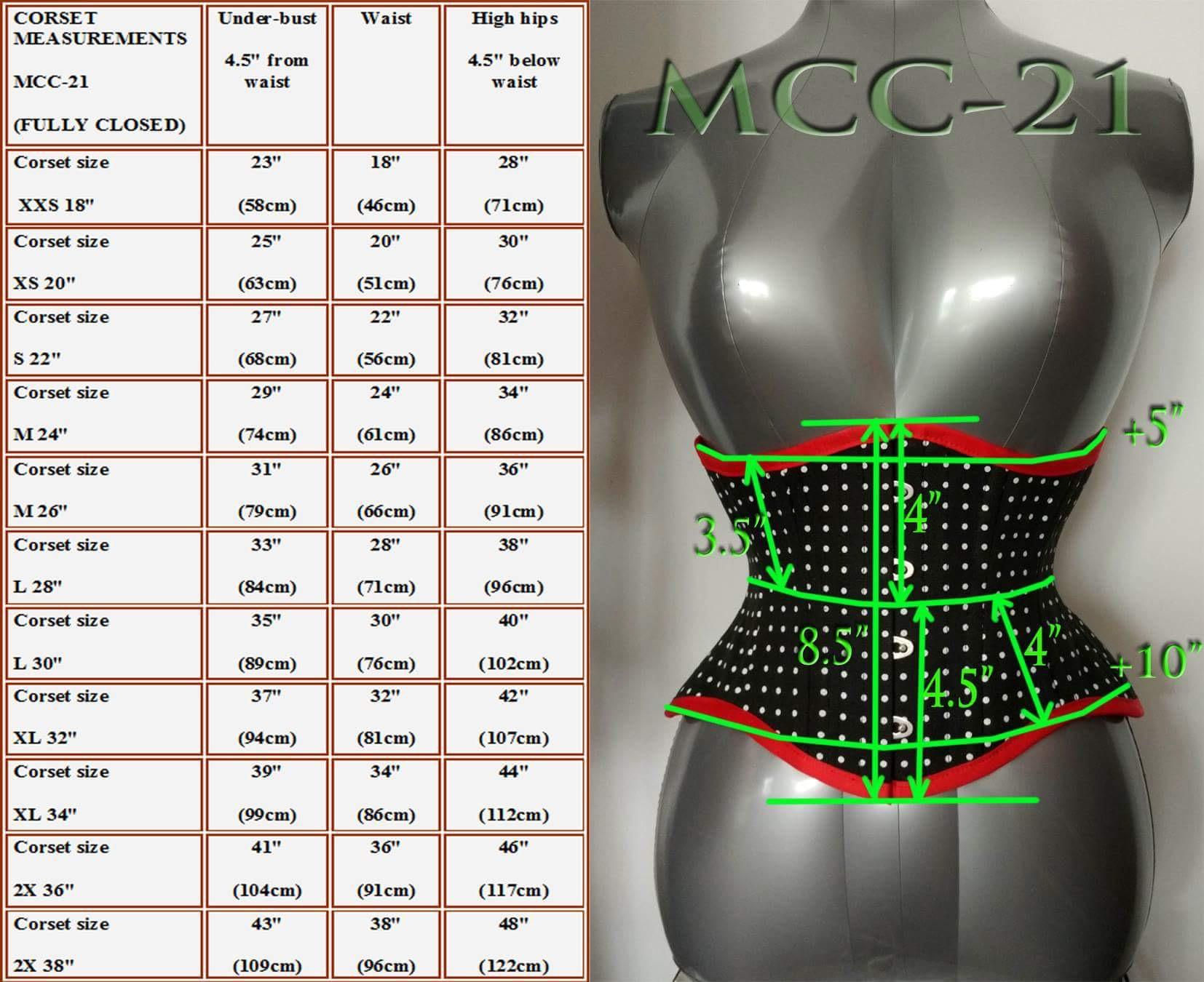 MCC21 Polka Dot Cotton Underbust Corset