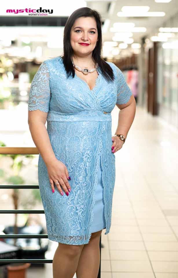 0315(1) Mystic Day Trixi világoskék molett ruha
