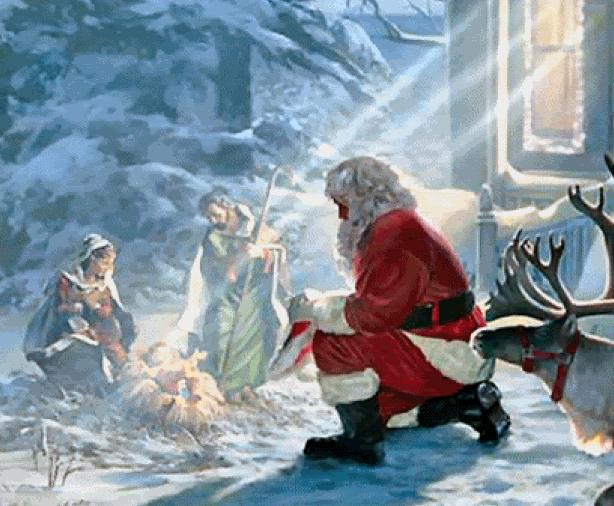 Image result for jesus and santa