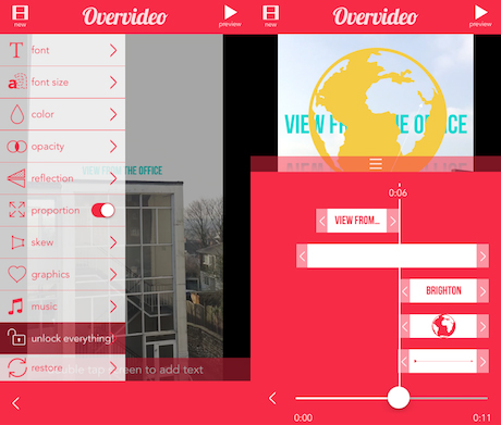 Top 5 Coolest Video App to Make Pretty Video from Your Travel Videos and Photos overvideo