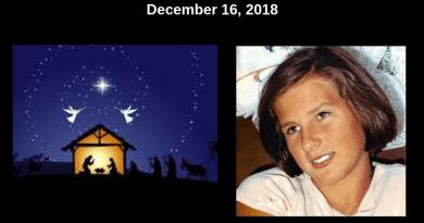 OUR LADY SHOWED MEDJUGORJE  LOCUTIONIST JELENA VASILJ BABY JESUS AND TWO ANGELS HOVERING OVER MANGER