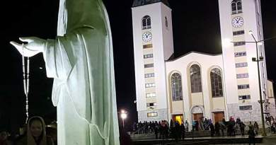 "Tonight in Medjugorje on the Eve of Easter..Photos Courtesy of a Secret Angel – Also ""Thank You Jesus""  Spend a moment with Jesus in Adoration this Evening"