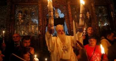 "The Holy Fire Miracle in Jerusalem by Christ's tomb. Flame Appears Every Year on ""Great Saturday"" Before Easter….Miracle Broadcast Live on Russian TV…Claim: If Blue Flame Fails to Appear the Apocalypse Is Near"