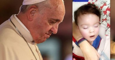 """Pope Francis renews appeal for Alfie Evans…""""the only author of life, from its beginning to its natural end, is God."""""""