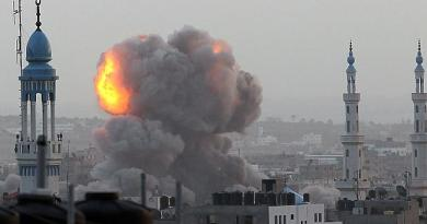 SYRIA ATTACKS ISRAEL Syria bombards Israel with rockets and artillery after Damascus air strikes