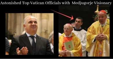 Top Brass at Apparition:  Pope's Right Hand Man and Papal Envoy in Audience in Grand Cathedral as Virgin Mary Comes From Heaven and Visits Visionary. Blessed Mother Prays for Priests… Vatican's Secret Plan to Save the Church?