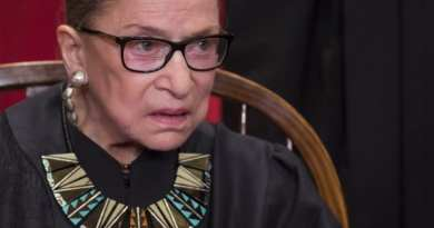 Signs: Justice Ginsburg Will Miss Supreme Court Arguments for First Time Ever