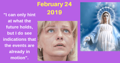 "Medjugorje: 5 Points to Ponder and the Mysterious Date of March 18…""YOUR BATTLE IS DIFFICULT, IT WILL BE EVEN MORE DIFFICULT.""   Cause for Concern?"