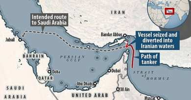 War Drums: Iran says they have confiscated a British tanker in Strait of Hormuz