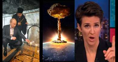 Rachael Maddow – Is the woman dressed in black  ushering in the Apocalypse?
