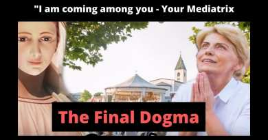 "Medjugorje – THE FINAL DOGMA – ""I am coming among you…I desire to be the bond between you and the Heavenly Father – your Mediatrix."""
