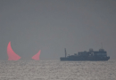 DAWN OF EVIL – War in the Middle East   – Incredible 'red devil horns' photo captured during rare solar eclipse over the ocean in Persian Gulf