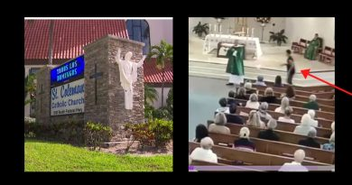 Attack during Catholic Mass at Pompano Beach church – Video shows crazed man attacking Deacon – Mob of worshipers spring to the rescue.