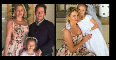 Mark Wahlberg proudly shows off photo's of his daughter's first communion