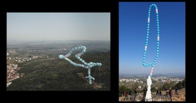 "Wow! Easter Sunday: Large rosary balloon released with a prayer above Medjugorje to end the Pandemic –  ""This is all for Our Lady and Our Lady's intentions and for the glory of Our Lady and the Lord."""