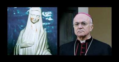 Archbishop Viganò: Our Lady warned of 'great apostasy' in Church followed by risk of World War III  The mysterious statue from Medjugorje may have revealed the future of the world.