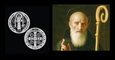 How Saint Benedict defeated the devil with the Cross of Christ – How it inspired Saint Benedict and the Jubilee medal