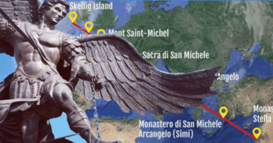 The Sacred Line of San Michele which 'protects' us and connects the 7 sanctuaries dedicated to the Archangel