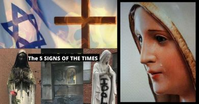 "The Five Signs of the Times ""It is not really the end of the world – but rather, the end of Satan's reign on earth. Praise God: The Immaculate Heart of Mary will triumph,"""