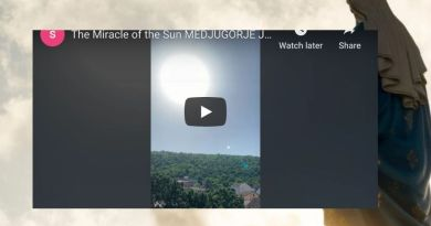 "Perhaps the most convincing ""Sun Miracle"" ever filmed at Medjugorje"