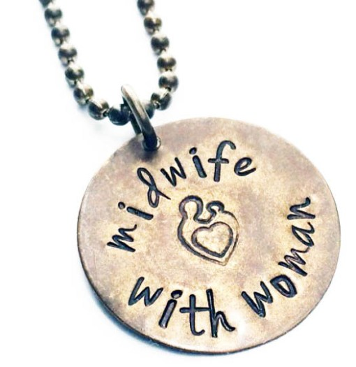 Natural Birth Stamped Midwife Necklace