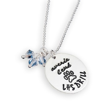 Sterling Silver Personalized Drill Team Necklace