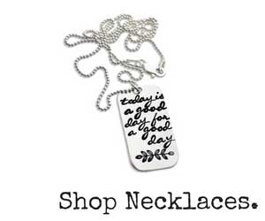 Shop Hand-Stamped Necklaces