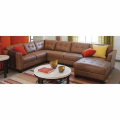 Martino Leather Chaise Sectional Sofa 2 Piece Apartment And Best Brands 2018 Canada | Taraba Home Review