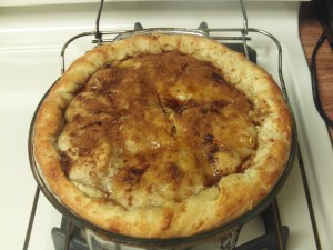 The baked apple pie