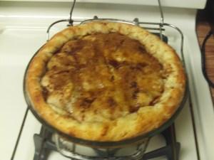 The golden allure of apple pie crust.