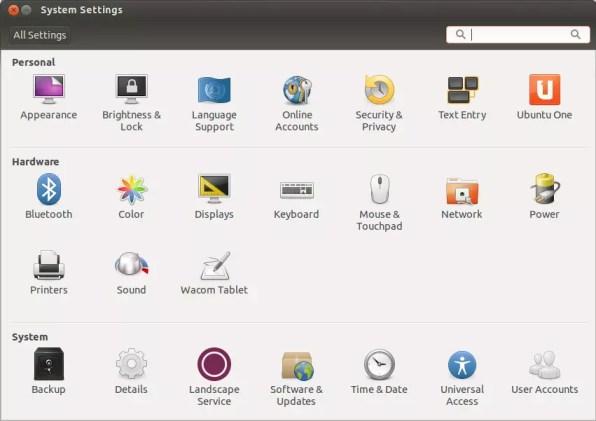 System Settings - Ubuntu 13.10