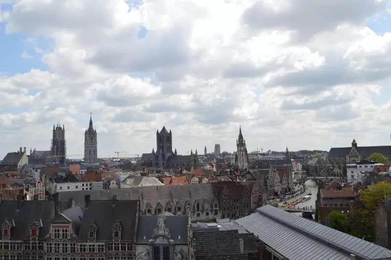 Fotografie din turnul castelului Gravensteen din Gent