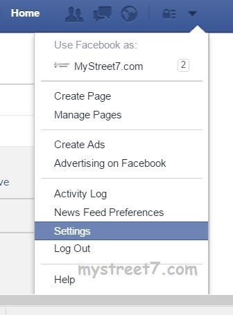 settings facebook