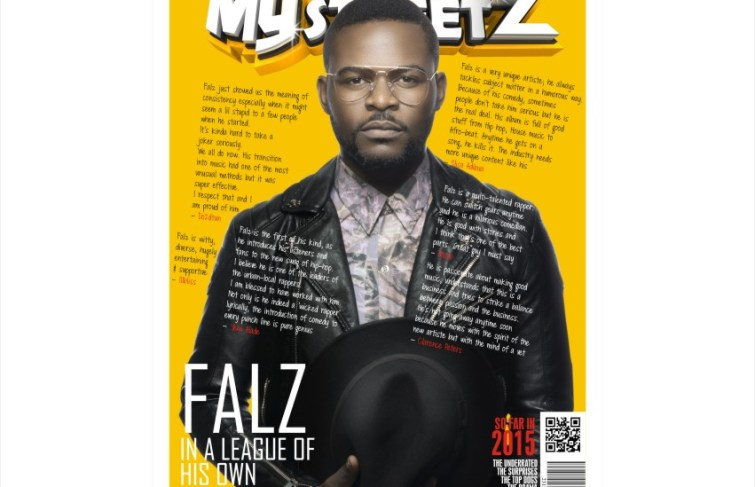 FALZ COVERS MYSTREETZ MAGAZINE