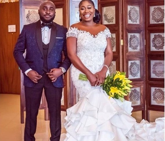 Femi Ajayi and Gbemi Olateru-Olagbegi White Wedding Photo